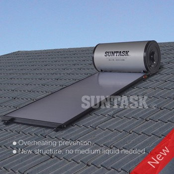 New Design Over Heating Protection Flat Plate Integrated Pressurized Solar System SPH