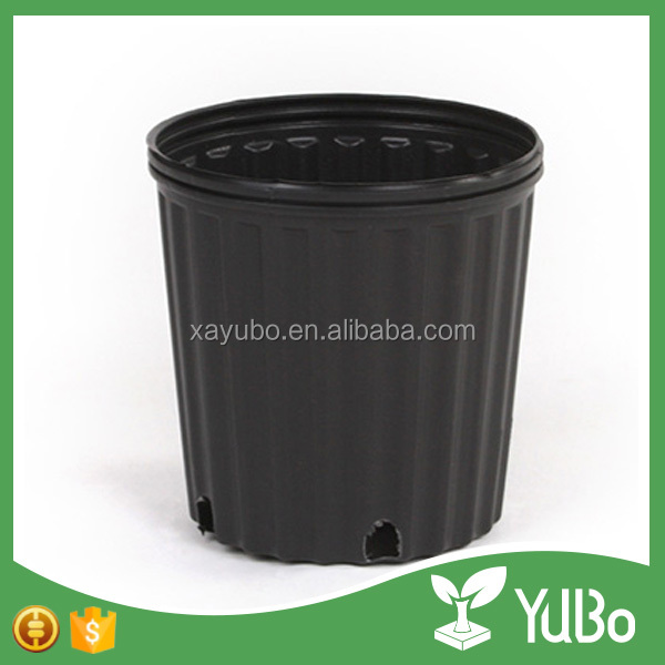 black bulk gallon flower pots