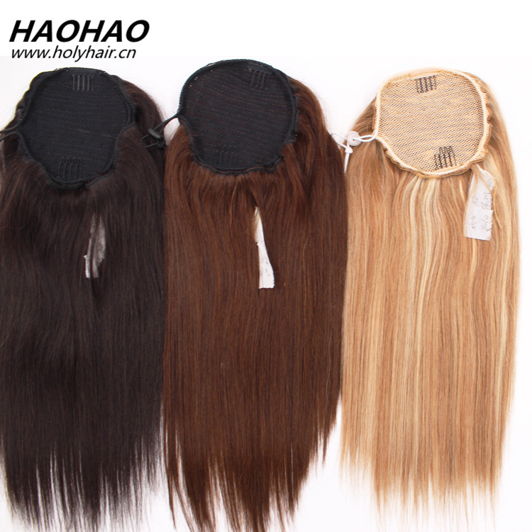 Best selling products different color grade 9a virgin human hair ponytail cambodian hair product with shedding free tangle free