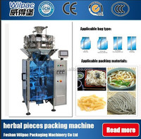 Multihead scale and packing machine combination for potato chips