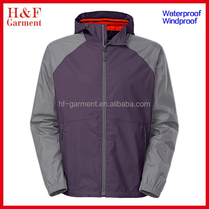 Winter man hooded waterproof jacket for outdoor wear clothing