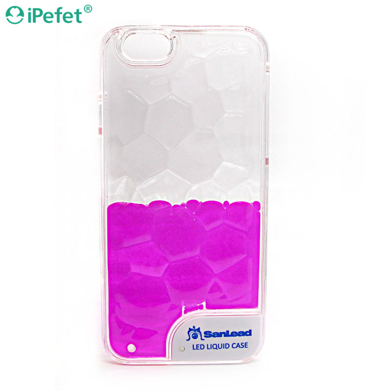 3D Flash LED liquid Mobile phone case for iPhone6, new cellphone cover for iPhone 6 plus