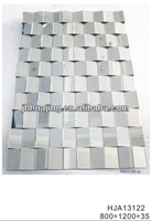 Silver Mirror Glass Decorative 3D Mirror from Huajing