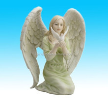 Hand paint resin craft angel/ Polyresin angel with wing