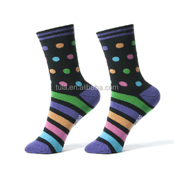 newly designed dot and stripes women relaxing cottton socks