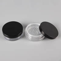 Hot sale cheap round 50 ml PS plastic customized empty cosmetic packing/ empty cosmetic jars/empty cream jars