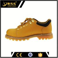 anti-static genuine leather working goodyear safety shoes with steel toe