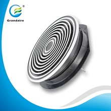 Air Conditioning Aluminum Air Floor Grilles Round Floor Diffusers Covers with Removable Core in Anodized Sliver Color