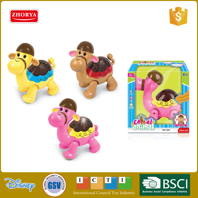 Zhorya plastic cheap funny design light up musical cute battery operated camel