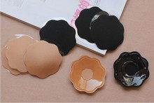 Artistic women push up invisible breathable fabric nipple cover for wholesale