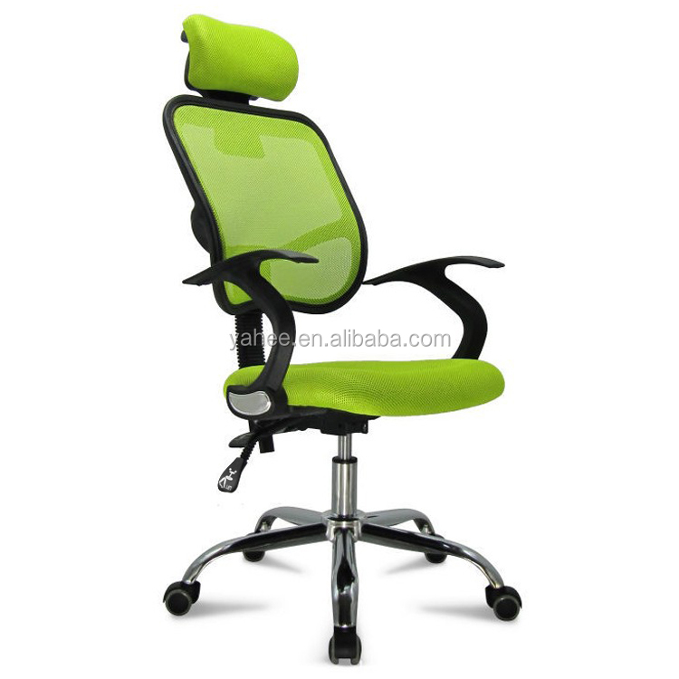Adjustable Chrome Executive Office Computer Desk Chair Mesh Seat Fabric