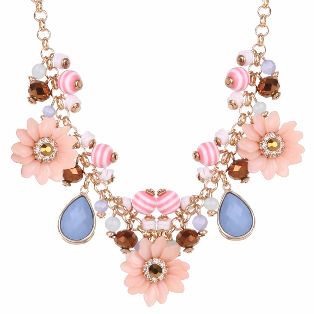 New Design Necklace 2016 Fashion Crystal Necklaces Women Luxury Statement Diamond Necklace Jewelry SKA8408