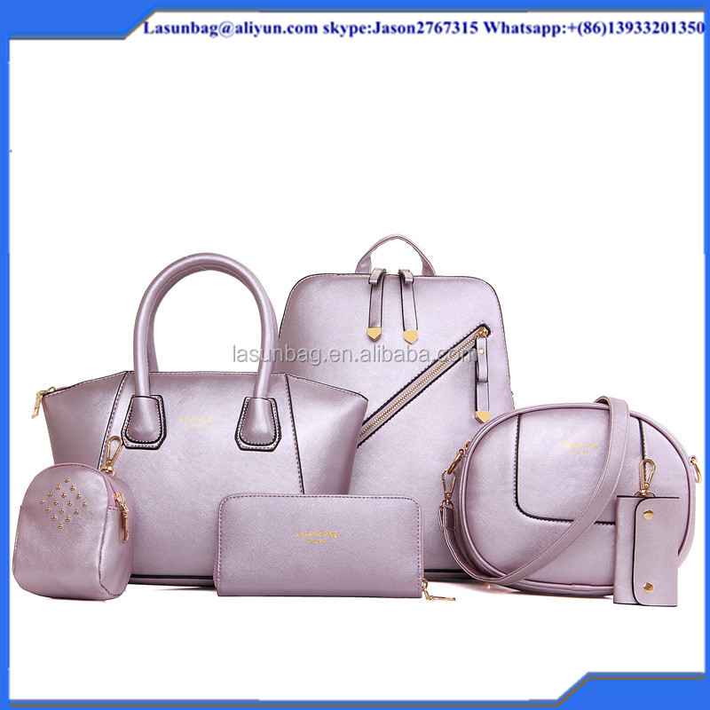 2016 fashion Hot sale Boston leather handbag sets leather backpack for women <strong>bag</strong> Designer Handbag OEM Shoulder <strong>Bags</strong>