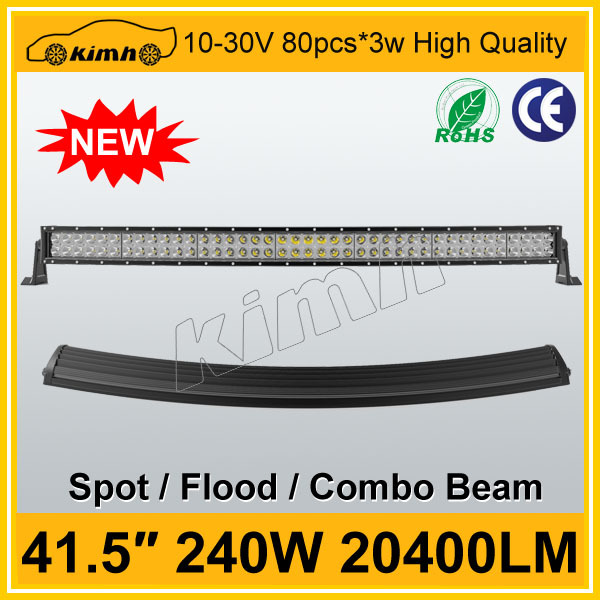 wholesale curved aluminum housing 4x4 12 volt led light bar offroad offroad car ce rohs