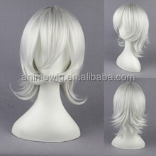 High Quality 35cm Short Curly D.Gray-Man-Allen Walker Silver White Synthetic Anime Wig Cosplay Hair Wig Party Wig