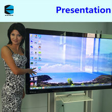 EKAA 84inch portable finger touch interactive whiteboard/multi-touch smart whiteboard