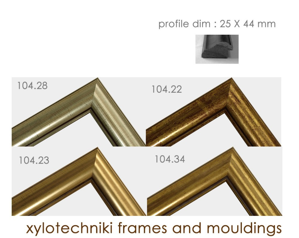 Modern Gold And Silver Wooden Frame Moulding - Buy Picture Frame ...