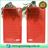 New transparent s line TPU gel case for huawei ascend p6