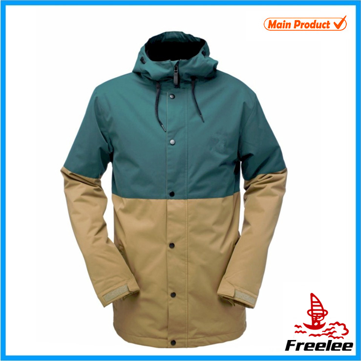 Long polyester spandex snowboard jacket for men