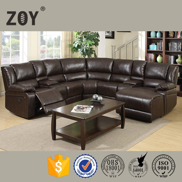 Zoy modern synthetic leather funetional sofa,comfortable sectional sofa 96180