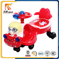 Round steering wheel baby swing car kids twist car for child toy car with music