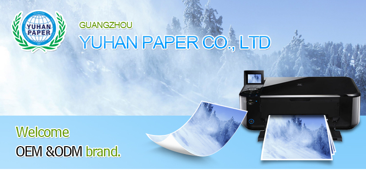factory wholesale OEM 260gsm A4 size waterproof satin RC inkjet photo paper for studio use