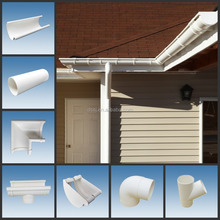 PVC Rainwater Gutter/ Half round And Rectangular