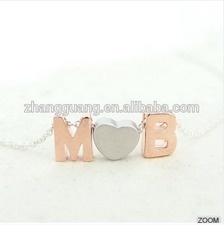 Tiny initial letter charming alphabet pendants jewelry for gifts