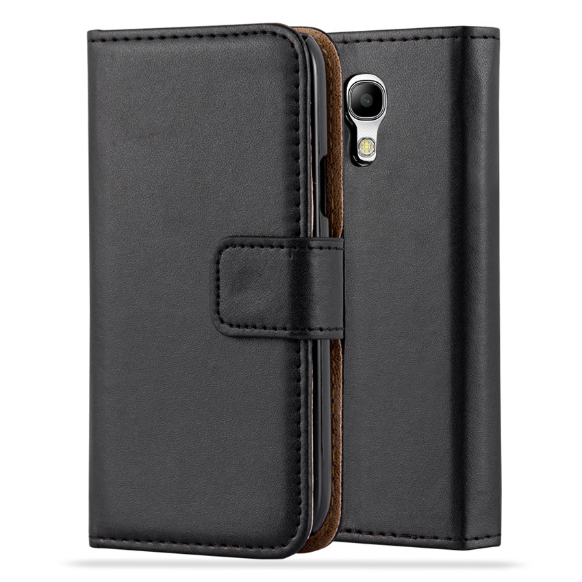 Wallet leather phone case for Samsung galaxy s4 mini ,card holder leather case for Samsung galaxy s4 mini
