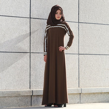 Z92530A 2017 Muslim women's Dress Islamic Long Sleeve Abaya Islamic Malaysia Muslim clothing Long Dress