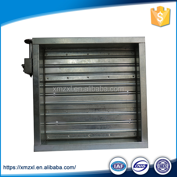 HVAC System Fire Galvanized Steel Motorized Volume Damper