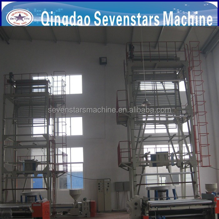 three in one winding system. plastic blow film machine
