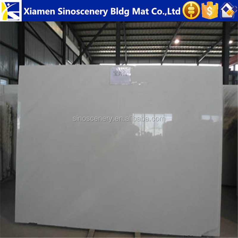 Chinese stone original supplier of Jade white marble stone slab for bar countertop