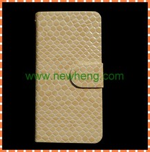 Hot sale Cross lines flip Leather Case with card slot for iphone5 5g