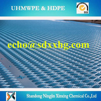 Anti slip road mat/oil drilling rig safety grip rig mats/HDPE 500 sheet stabilizer track mat