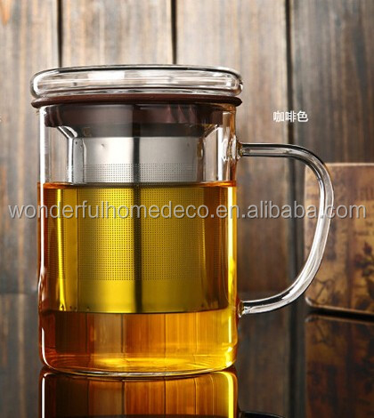 Glass Tea Cup With Stainless Steel Infuser