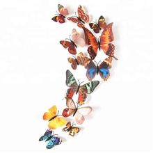 12 Pcs/set Butterflies 3D Wall Stickers Art DIY Home Decorations PVC Removable Decors Wedding Decorations Wall Decals Sticker