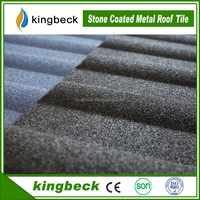 Color stone chip coated metal building material resin roof tile