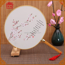 Various Selections Wholesale Chinese Traditional Round Silk Fans for Wedding Favors TS-09