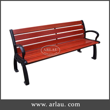 Plastic wood bench for church with low price