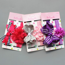 Sweet Baby Hair accessories Kids Cute Bow Bands Girls 3pcs Hair Bands Set Accessories