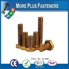 Made in Taiwan Metric Solid Brass Hexagon Head Fully Threaded Cap Bolt