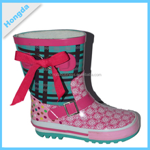 OEM pirnt wellies Scotland fishing boots rain boots for girls