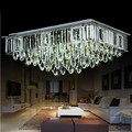 Unique high quality luxury rectangle crystal ceiling lamp