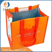 laminated Finsulated recycling reusable non woven thermal wine cooler carrier bag
