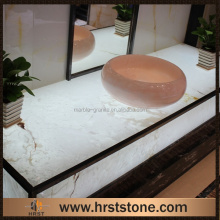 Made in China polished backlit onyx vanity top