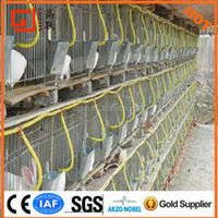 Hot sale cheap 50*150*120 3layer*3door rabbit cage / Any size separate commercial rabbit cage (Factory)