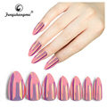 fengshangmei nail art metallic nail tips mirror effect nail mirror chrome false nails