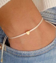 Tiny heart bracelet wish bracelet friendship bracelet