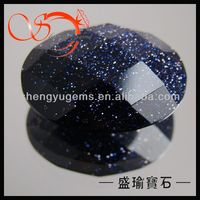 bling blue sand synthetic stone for jewlery finding